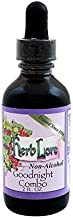 Herb Lore Goodnight Combo Tincture - 2 fl oz Alcohol Free - Natural Herbal Sleep Aid Drops with Valerian Root, Passionflower & Skullcap for Kids & Adult - Calming and Relaxing Mood Support