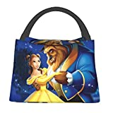 Beauty And The Be-Ast Portable Insulated Lunch Bag Tote For Adult & Kids -Leakproof Thermal Reusable Washable Carry To School,Office, Picnic And Travel
