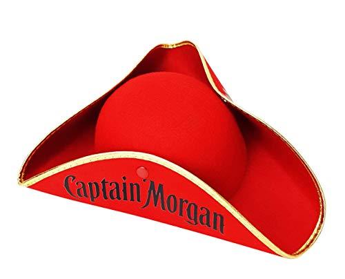 Captain Morgan Rum Piratenhut Hut Hüte Mütze Fasching Karneval Material : 100% Polyester