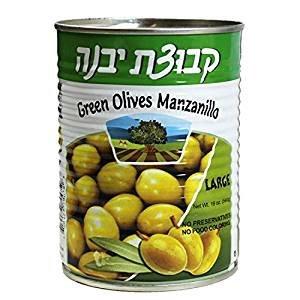 Kvuzat Yavne Green Olives Manzanillo Large KFP 19 Oz. Pack Of 3.