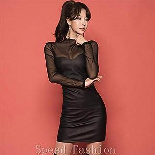 (Speed Fashion)セクシーなレース切り替え、透明な誘惑、魅力ワンピース