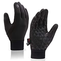【Sensitive 3 Fingers Dual-layer Touchscreen】Improved touch screen leather are more sensitive on thumbs, forefinger and middle finger, you can use smartphone, tablet or other touch screen devices anywhere and anytime without taking warm gloves off in ...