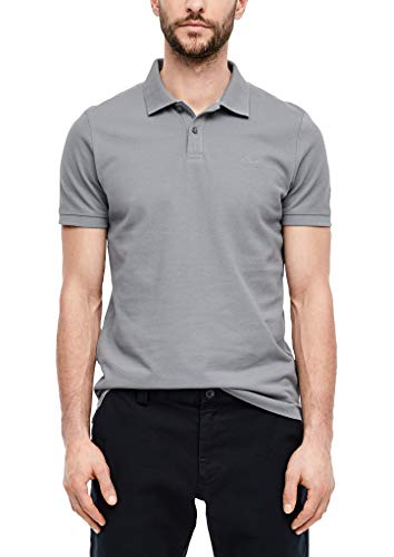 s.Oliver Herren Poloshirt aus Baumwollpiqué Grey XL