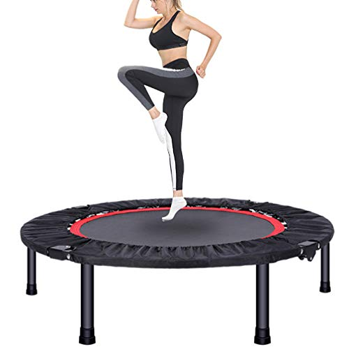 JIYU FitnessTrampoline for Adults,Sports Rebounder Trampoline With Stable Handle Maximum Safety,Indoor Sports Trampoline for Home Use, Jumping Fitness 40 inches