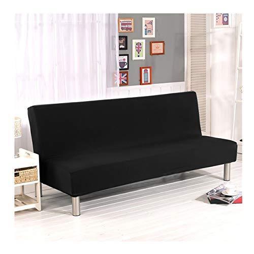 Cornasee Funda de Clic-clac elástica, Cubre/Protector sofá de 3 plazas,Color sólido,Negro