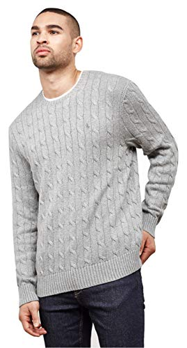 Polo Ralph Lauren Men's Cable-Knit Cotton Sweater, Grey2018, XL