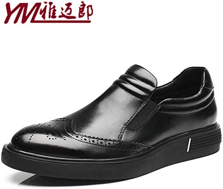 LOVDRAM Stövlar Män Män Män nya klädskor Män Läder Bullock bilved Mans skor Affärsskor Tillfälliga skor Ökade skor  100% äkta motgaranti