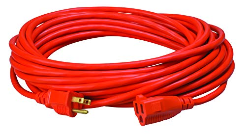 Southwire 2308SW8803 Vinyl Outdoor Extension Cord In Orange With 3-Prong Plug (50 Feet, 16/3 gauge)