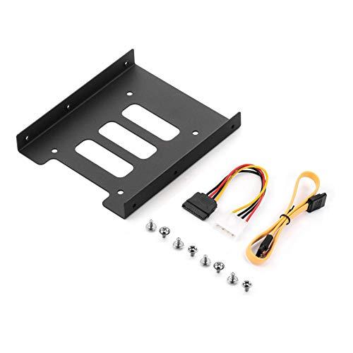 """Cadre de Montage Salcar pour 2,5"""" HDD/SSD vers Adaptateur 3,5"""" Cadre Amovible avec vis Câble SATA et Adaptateur Secteur Inclus"""