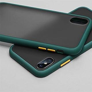 جراب جلدي من البولي كربونات عالي الجودة - جراب هاتف بتصميم شفاف غير لامع لهاتف آيفون 6 6S 7 8 بلس X XS 11 Pro MAX XR (أخضر...
