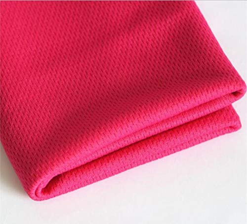 LASISZ Unisex Sports Quick Dry Bamboo Towel Summer Thin Gym Swimming Reusable Cool Face Small Towel for Heat Relief 65X28 cm,Hot Pink