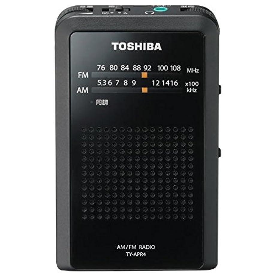 ペパーミント修羅場明らかに東芝 ワイドFM/AMラジオポケットラジオ TY-APR4-K