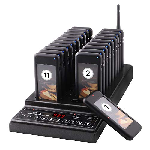 JOYSAE Restaurant Pager System Portable Wireless Calling System