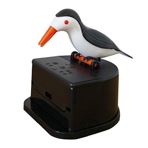 Oulensy Pájaro Palillo De Dientes Dispensador Automático De Aves Toothpick Box Palillo Titular Palillo De Dientes Caso Lindo del Colibrí Woodpecker