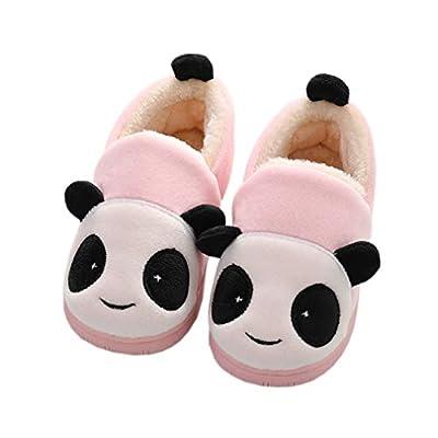 Zapatillas de Estar por Casa para Niñas Niños Invierno Zapatillas Interior Casa Caliente Pantuflas Suave Algodón Calentar Zapatilla Mujer Hombres Rosa 28-29 EU (Fabricante: 200)