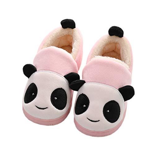 Zapatillas de Estar por Casa para Niñas Niños Invierno Zapatillas Interior Casa Caliente Pantuflas Suave Algodón Calentar Zapatilla Mujer Hombres Rosa 32-33 EU (Fabricante: 22)