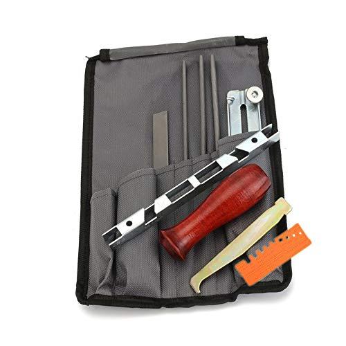 10 unids/set motosierra Sierras afilar kit herramienta conjunto guía barra archivo con bolsa