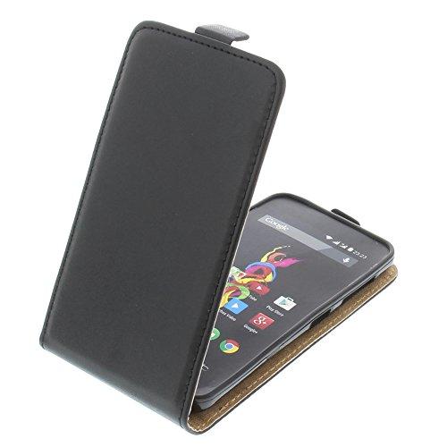 foto-kontor Tasche für Archos 40d Titanium Smartphone Flipstyle Schutz Hülle Schwarz
