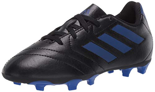 adidas baby boys Goletto Vii Fg J Football Shoe, Core Black/Team Royal Blue/Team Royal Blue, 1 Little Kid US