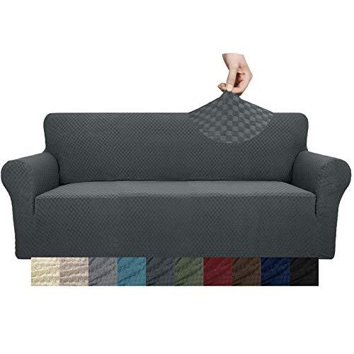YUUHUM Funda de sofá de diseño creativo, 1 pieza elástica funda de sofá para 3 cojines sofá sala de estar mascota perro muebles...