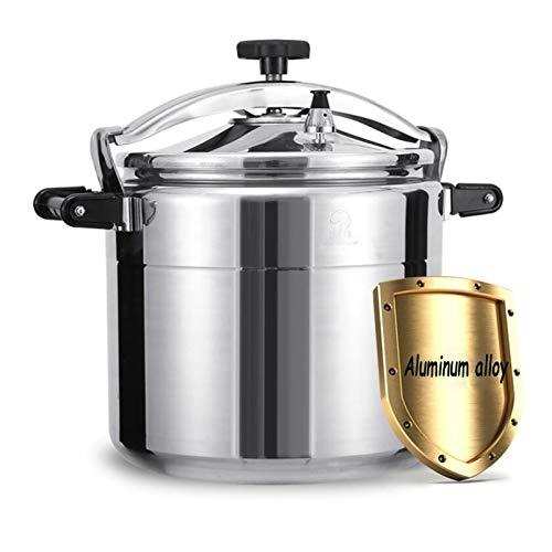 Cuisinière en alliage d'aluminium commercial 9-50L, grande capacité Cuisinière à pression anti-explosion épaissie pour la maison Cantiens et écoles à domicile, peut être utilisé dans les cuisines, les