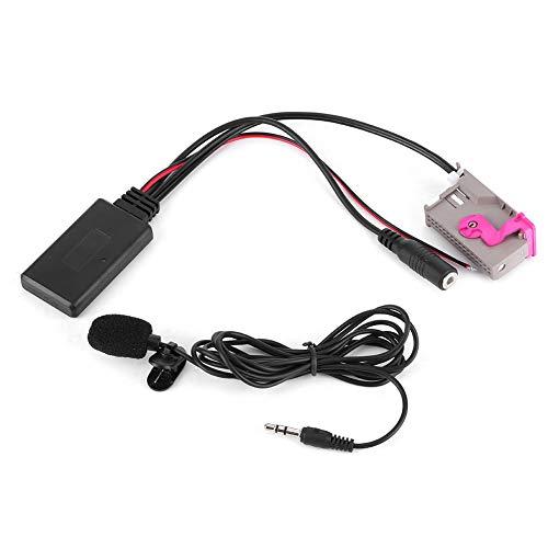 Qiilu Adattatore audio Bluetooth, ingresso ausiliario Adattatore Bluetooth AUX 32 pin Connettore cavo audio stereo portatile adatto per A3 A4 A6 A8 TT