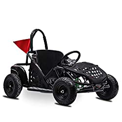 small FITRIGHT 2020 79ccm 2.5 PS Kart, 4 Sockets, Kids Racing Kart, Foot Pedal and Foot…