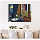 DNJKSA Edward Hopper Talking Person Canvas Painting Prints