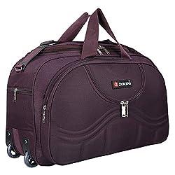 Zion Bag Waterproof Polyester Lightweight 40 L Travel Duffel Bag with 2 Wheels (Purple),Zion Bag,Duffle Bag