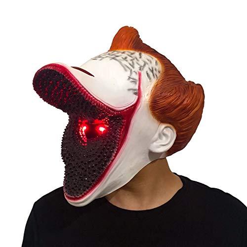 XUMING Es Pennywise Máscara Payaso, Disfraz de Halloween de Miedo, Látex no tóxico, Peluca Realista para Adultos de Fiesta Decoración Cosplay