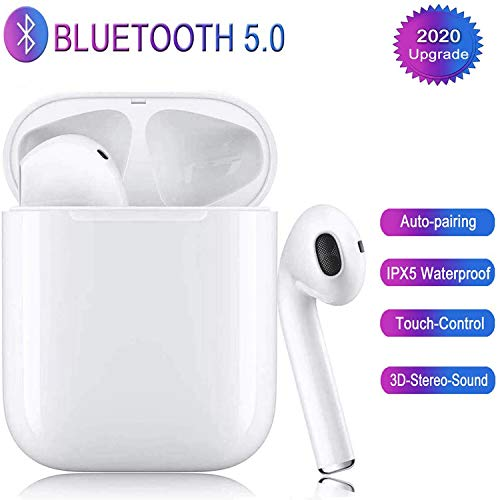 Peng Bluetooth-Kopfhörer5.0,kabellose Touch-Kopfhörer HiFi-Kopfhörer In-Ear-Kopfhörer Rauschunterdrückungskopfhörer,Tragbare Sport-Bluetooth-Funkkopfhörer,Für Airpods Android/IOS/Samsung