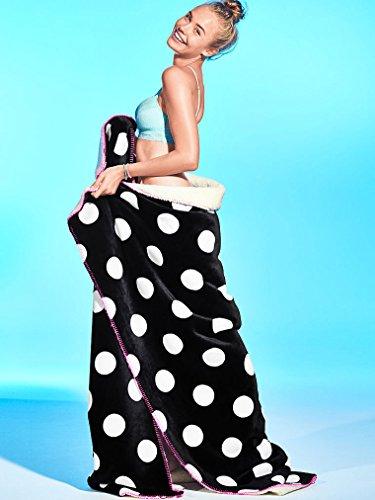 Victoria's Secret PINK Polka Dot Soft Sherpa Plush Blanket 60' X 72' Black Friday Very Limited Edition