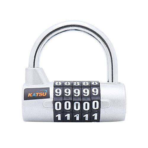 KATSU Digital Pad Lock Professional 5 cijfers 4 kleuren Silber