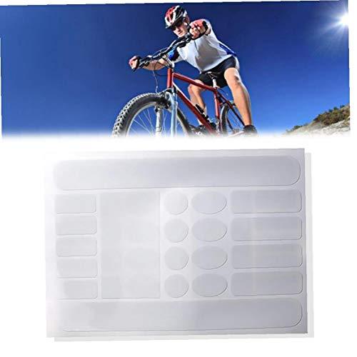 Odoukey 1sheet vélo Chainstay Autocollants Chainstay Cadre Protecteur résistant aux Rayures Ruban Autocollant de Protection vélo Garde pour vélo de Route (Transparent)