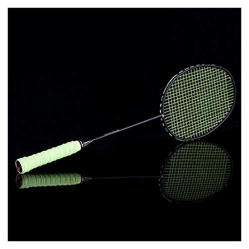 DOUBLE NICE Bádminton Ultralight 6U 72g Strung Bádminton Raqueta Profesional Carbono Badminton Racquet 22-28 Gripes y Pulseras Gratis bádminton Pluma (Color : Green String)