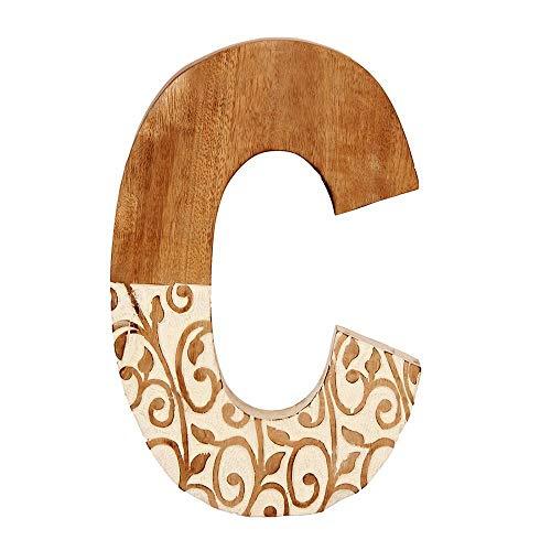 Aheli - Letra C Decorativa de Madera para Colgar en la Pared con Letras del Alfabeto para niños, Baby Shower, Bodas, Fiestas de cumpleaños, decoración del hogar