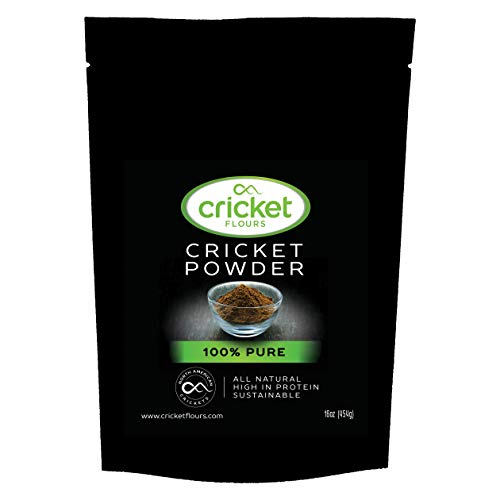 Cricket Flour: Pure Cricket Powder 1 lb (Made from Real Edible Insects in Portland, OR) Great High Protein Option for Shakes, Baking, & Recipes