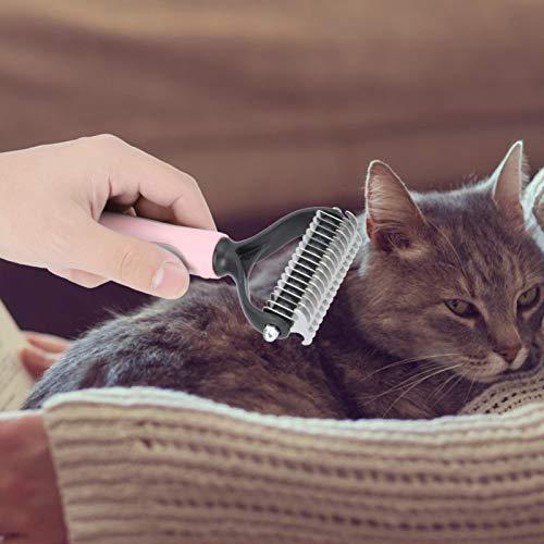 Eulbevoli Herramienta de Aseo de 2 tamaños y 2 Colores, Cepillo de baño para Mascotas, Cepillo de Pelo para Perros, para Perros, Gatos y Otras Mascotas para Eliminar enredos y Nudos(Pink, S)