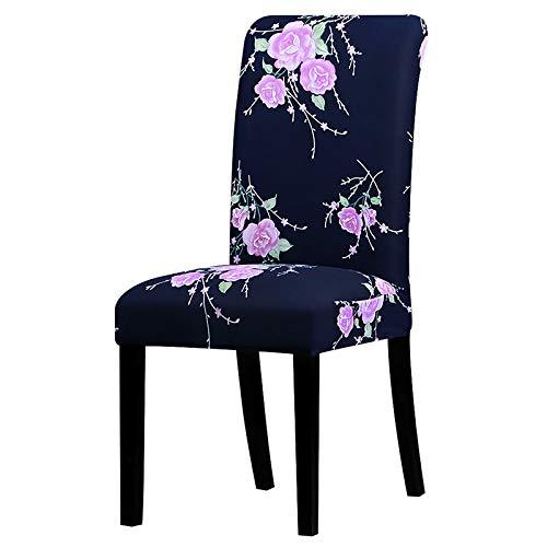 PPOOLLK Print Floral Universal Size stoelhoes gecontroleerd patroon stoel Hotel Party Universal sizes 125847