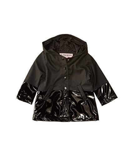 Urban Republic Kids Baby Girls Raincoat Patent Faux Leather Anorak Jacket Infant//Toddler