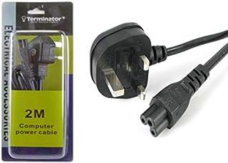 Terminator High Grade Laptop LED TV Clover Leaf Plug Power Cable 2 Meter 13A Fused UK Plug