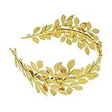 Frcolor Diadema de Hoja de Oro Diadema de Corona de Hoja de Diosa Romana Griega Diadema de Novia Diadema de Hoja de Boho Accesorios para el Cabello