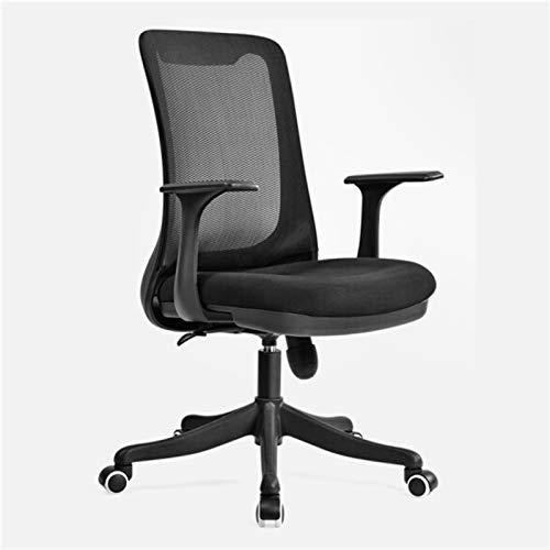 ZXNRTU Relájese cómodamente seguro Asiento de la silla de oficina con silla de malla transpirable con altura de asiento ajustable y recepción reclinable y silla de trabajo con reposabrazos firmes (sil