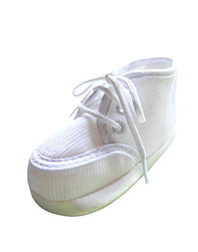 Ikumaal Festlicher Schuh Für Taufe Oder Hochzeit - Taufschuhe Für Baby, Babies, Mädchen, Jungen, Kinder, in Verschiedenen Größen 16-19, Tp20 Weiß, 17 EU