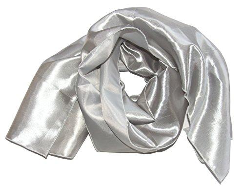 Am Laufsteg Satin-Stola (Eig) Schultertuch, zum Abendkleid oder Brautkleid, ca 135 x 46 cm, silber
