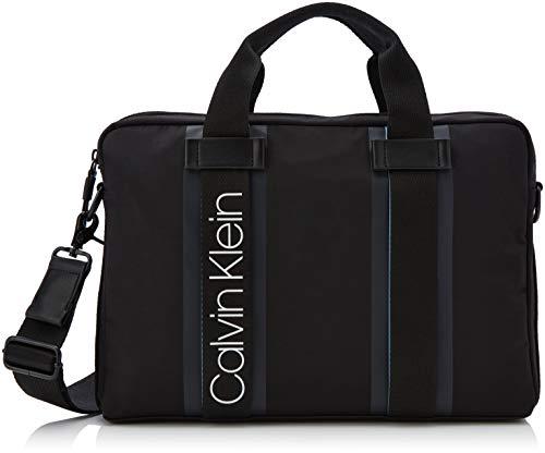 Calvin Klein Herren Clash Laptop Bag Tasche, Schwarz (Black), 5x38x26.5 cm