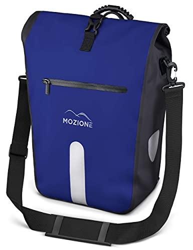 MOZIONE Gepäckträgertasche wasserdicht mit Laptopfach 15 Zoll, Schultergurt & Tragegriff, großer 25L Stauraum, Fahrradtasche für Gepäckträger für Arbeit, Schule,...