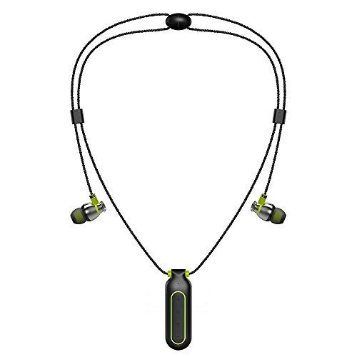 J.W. Halskette Bluetooth-Kopfhörer, IPX7 wasserdicht, in-Ear-Sport HD Stereo sweatproof Rauschen Abbrechen Headsets mit MIC, HiFi MP3-Player für Handy, 8G
