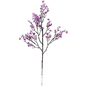 shlutesoy Artificial Flowers Outdoor UV Resistant,Faux Flower Beautiful DIY Vivid Gypsophila Fake Silk Artificial Flower for Daily Life,Home Wedding Decoration Purple