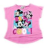 Camiseta Infantil Manga Corta Minnie Disney para niñas 100% algodón (6 años, Rosa)